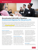Accelerated JD/LLM in Taxation: Two Advanced Degrees for the Price of One